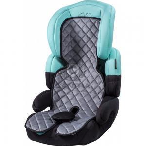 Grauer Kindersitzbezug auf einem Kindersitz