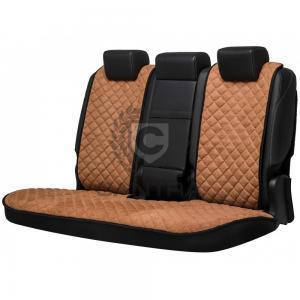 Braune Autositzauflage für die Rückbank