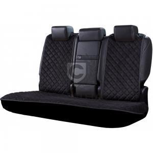 Schwarze Autositzauflage für die Rückbank