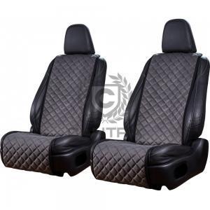 2 Ledersitze mit dem Produkt CANTRA Autositzauflage Anthrazit