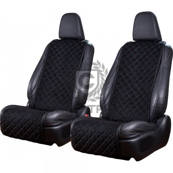 autositzauflage-standard-schwarz-blaue-naht