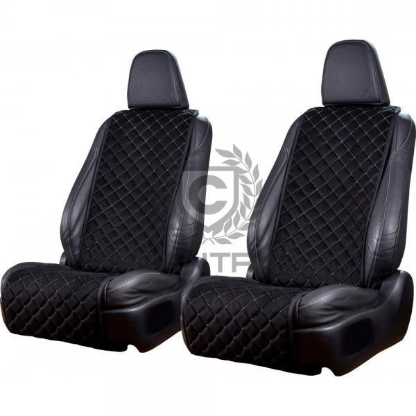 autositzauflage-standard-schwarz-weiße-naht