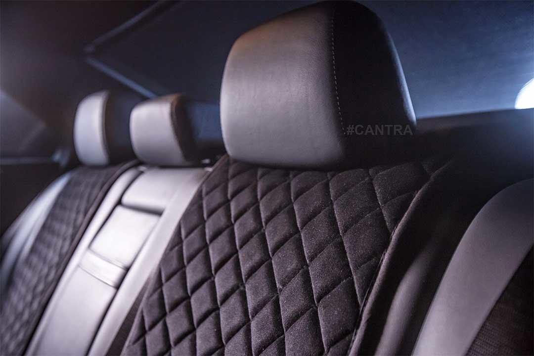 Autositzauflage Vordersitze schwarz