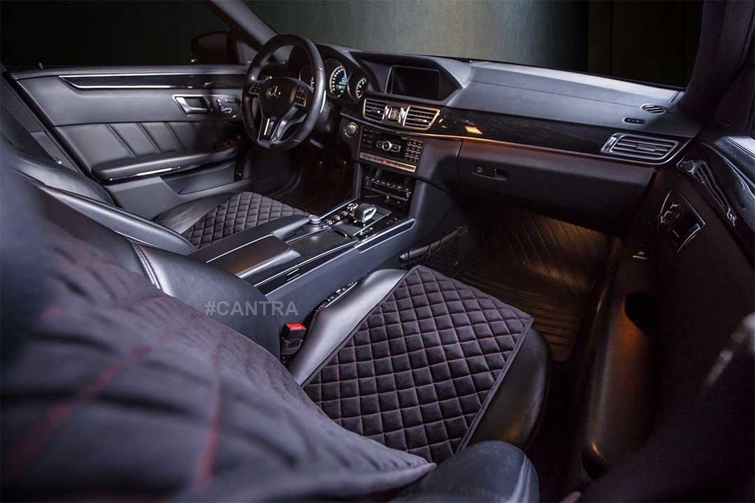 Cantra Autositzauflagen in einer Mercedes E-Klasse
